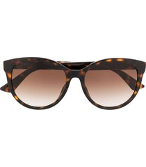 gucci eyewear gg0636sk soft-round sunglasses - brown