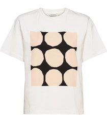 vaikutus kivet t-shirt t-shirts & tops short-sleeved wit marimekko
