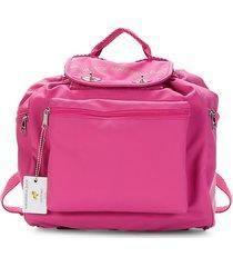 mandarina duck drawstring utility backpack - silver