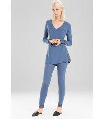undercover pants pajamas, women's, blue, size m, josie natori