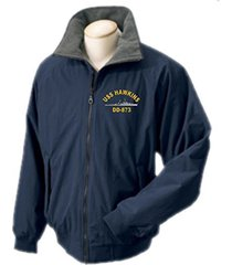 1 stop navy uss hawkins dd-873 portlander ship jacket sizes s through 4x