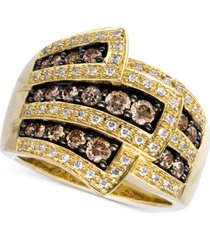 le vian chocolate diamonds wrap ring (1 ct. t.w.) in 14k gold