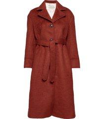 lengthy beaut coat wollen jas lange jas rood odd molly