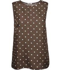 parosh dotted print sleeveless top