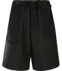 y-3 ruched waist shorts - black