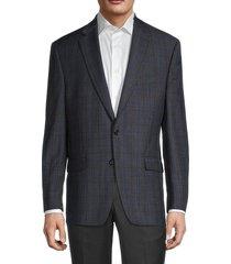 lauren ralph lauren men's regular-fit plaid wool-blend blazer - grey - size 44 r
