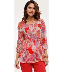 blouse mona roze::koraal::wit