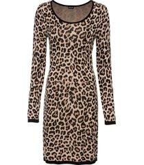abito in maglia leopardato (marrone) - bodyflirt