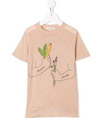 raspberry plum artists t-shirt - neutrals