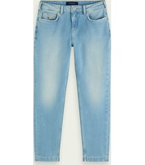 scotch & soda the keeper mid rise cropped jeans met smalle pijpen – fresh light