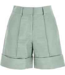 drome crocodile print nappa shorts