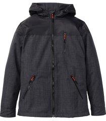 giacca in softshell con cappuccio (grigio) - rainbow