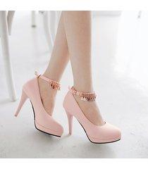 pp192 cutie high-heeled pump w gold fringe, size 34-39,pink