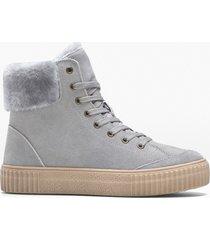 sneaker alte in pelle (grigio) - bpc selection