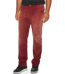 men's big & tall mvp collections straight leg corduroy jeans, size 44 x 34 - red