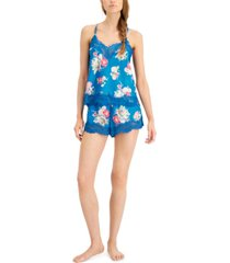 inc lace-trim cami & shorts pajama set, created for macy's