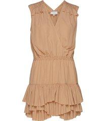 byron ruffle shirt kort klänning brun designers, remix