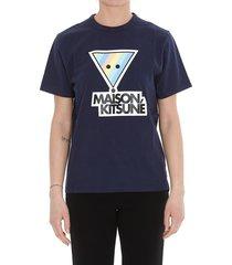 maison kitsuné rainbow triangle fox t-shirt