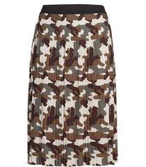 mmass, 3/4, skirt knälång kjol brun zizzi
