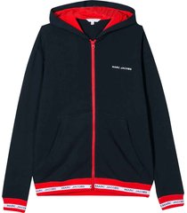 little marc jacobs blue and red hoodie