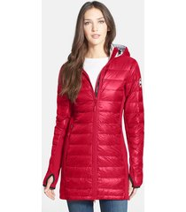 women's canada goose hybridge lite hooded packable down coat, size x-small (2) - red