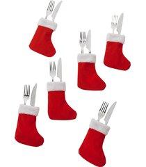 portaposate calza (set 6 pezzi) (rosso) - bpc living