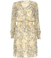 jurk met print saske  naturel
