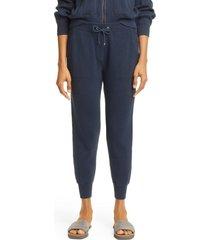 women's brunello cucinelli monili trim rib cotton ankle sweater joggers, size x-small - blue