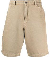 diesel straight-leg denim shorts - neutrals