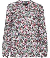 blouse, open v-neck, long sleeved, blus långärmad multi/mönstrad marc o'polo