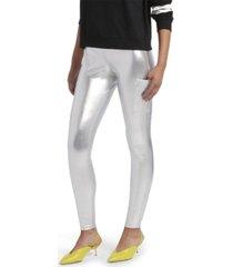 kendall + kylie metallic leggings with phone pocket