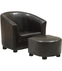 monarch specialties juvenile chair and ottoman, 2 piece set