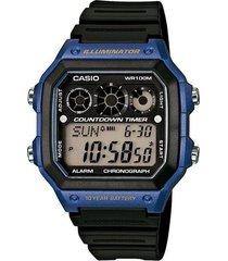 reloj casio ae_1300wh_2av negro resina