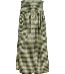 philosophy di lorenzo serafini button checked skirt