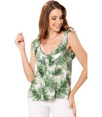blusa balazo verde ragged pf11112247