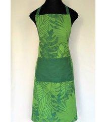 avental de cozinha selva 100% algodã£o jaquarde - importado de portugal - verde - dafiti