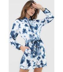 macaquinho gap tie dye utilitário branco/azul-marinho