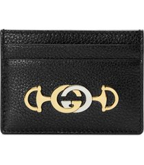 women's gucci463 leather card case -