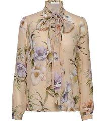 peony blouse blouse lange mouwen beige ida sjöstedt
