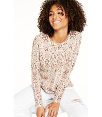 charter club snake-printed cashmere sweater, created for macy's