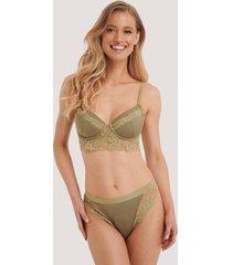na-kd lingerie spetstrosor - green