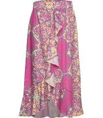 jamila skirt knälång kjol multi/mönstrad unmade copenhagen