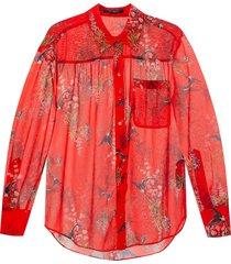 'bernie' floral-printed shirt
