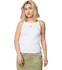 converse camiseta de tirantes high neck white