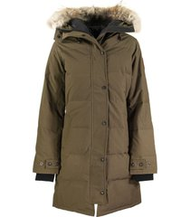 canada goose shelburne parka military green jacket