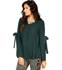 blouse amy vermont donkergroen