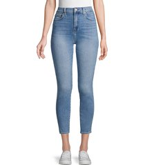 7 for all mankind women's gwenevere high-rise skinny ankle jeans - polar sky - size 29 (6-8)