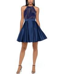 betsy & adam glitter-print fit & flare dress
