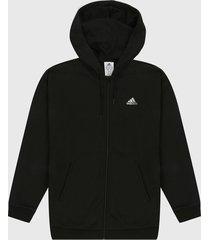 chaqueta negro-blanco adidas performance essentials small logo