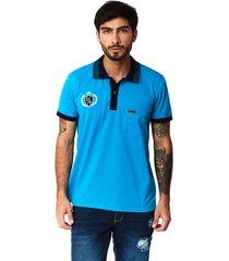 camiseta tipo polo-puntazul-azul turqueza-41450
